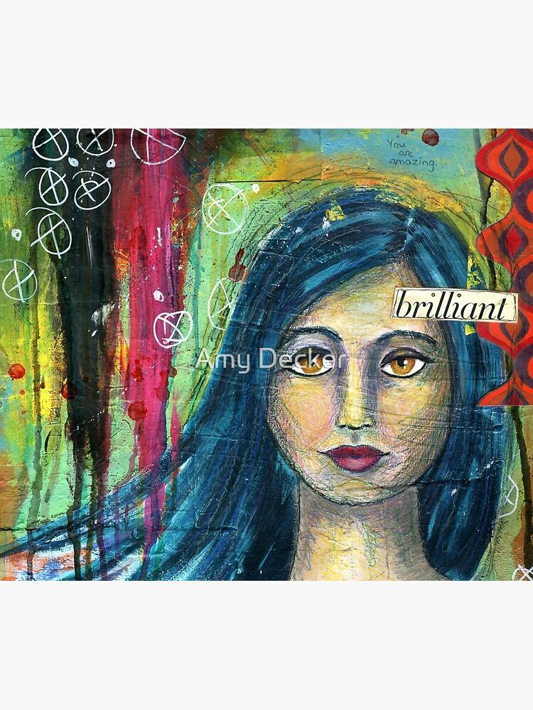 Brilliant Girl Mixed Media art by craftadventures