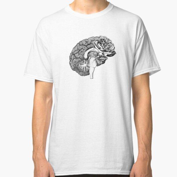 Floral Anatomical Brain Classic T-Shirt