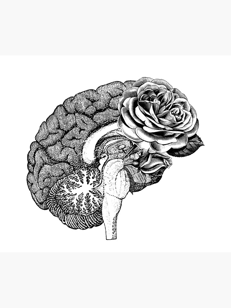 Floral Anatomical Brain by kaespo