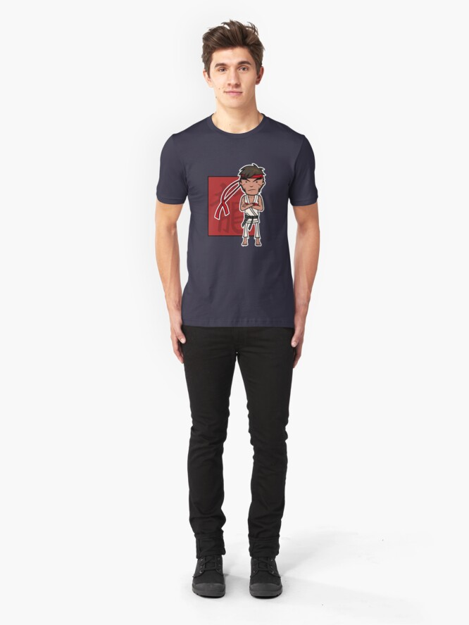 Alternate view of Ryu -  Street Fighter Slim Fit T-Shirt