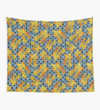Heraldic Autumn Leaves Wall Tapestry