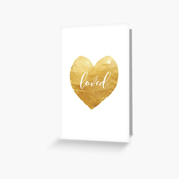 Loved in a Gold Heart Greeting Card