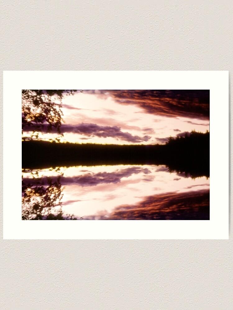 Alternate view of Rorschach's Sunset Art Print