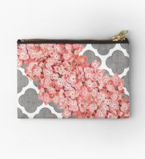 hydrangea and gray clover Studio Pouch