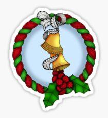 Pegatina Holly Wreath 2