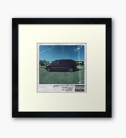 Kendrick Lamar - Good Kid, M.A.A.D City Framed Print