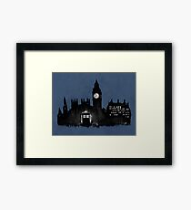 Police Box in London Framed Print