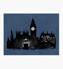 Police Box in London Photographic Print