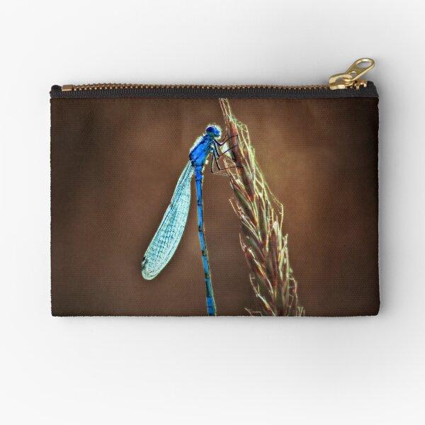 blue dragonfly Zipper Pouch