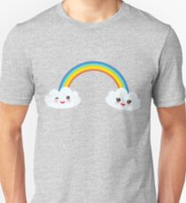 Happy rainbow and clouds Unisex T-Shirt