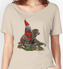 Gnome Riding a Sloth Women's Relaxed Fit T-Shirt