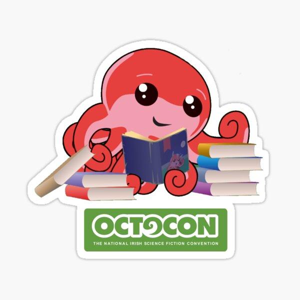 Book Worm Octo Sticker