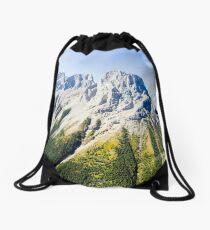 Banff mountain peaks Drawstring Bag