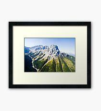 Banff mountain peaks Framed Print