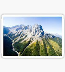 Banff mountain peaks Sticker