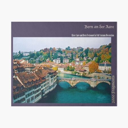 2000 FRAGMENTS ~ Bern an der Aare Art Board Print