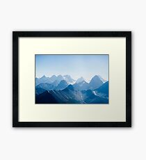 Mountains in Blue Framed Print