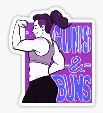 Guns & Buns Sticker