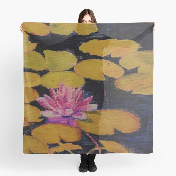 Soft floral Lily in the Pond fall fashion Scarf