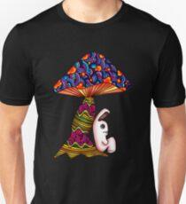 Rabbit by a Mushroom Unisex T-Shirt