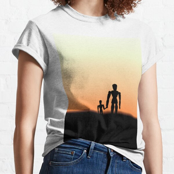 New Day - Sunset with Wooden Puppets Dolls Classic T-Shirt
