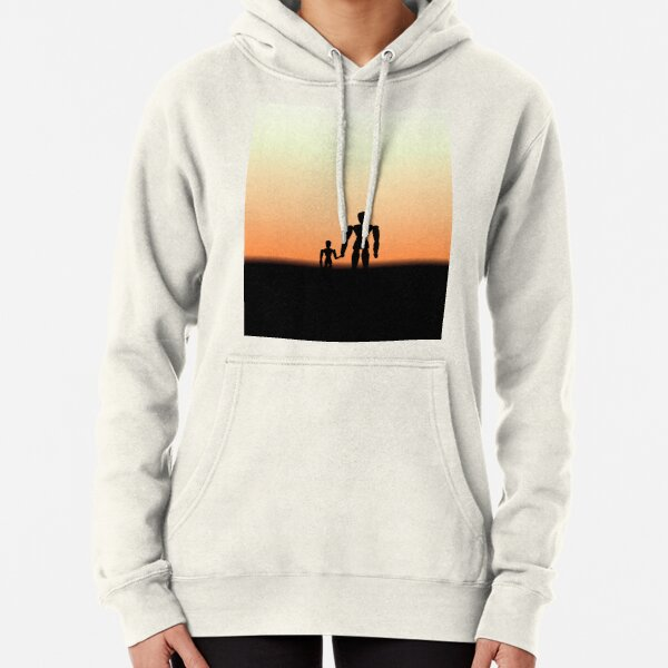 New Day - Sunset with Wooden Puppets Dolls Pullover Hoodie