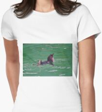 """""""Come In - The Water's Lovely!"""" Women's Fitted T-Shirt"""