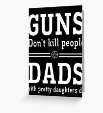 guns deads Greeting Card