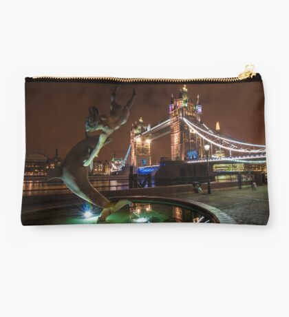 Dolphin and Lady Fountain Tower Bridge, London. Studio Pouch