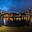 9 shot Pano of of Melbourne, Australia from Southbank by Allan Saben