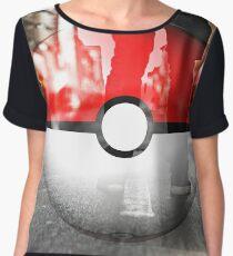 Pokemon when you're on the GO  Women's Chiffon Top