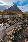 No water in the River Etive, Rannoch Moor, Scotland by Cliff Williams