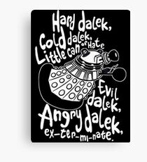 hard dalek Canvas Print