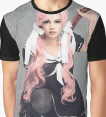 Babydoll Pink Hair Graphic T-Shirt
