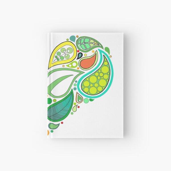 Green Leaf Heart Mandala Hardcover Journal