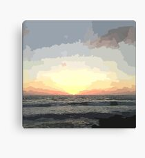 Pastel Sky: Ocean Sunset Canvas Print