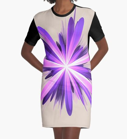 Flower blast #fractal art Graphic T-Shirt Dress