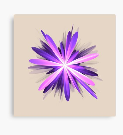 Flower blast #fractal art Canvas Print