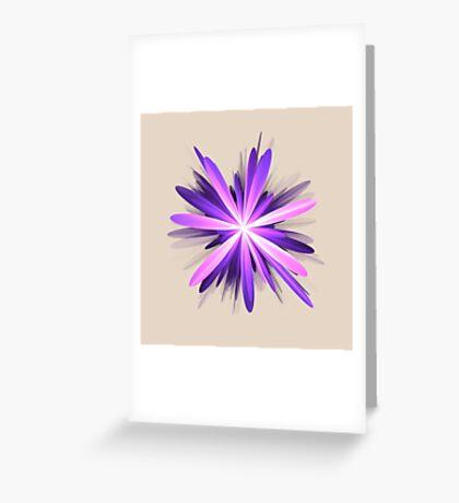 Flower blast #fractal art Greeting Card