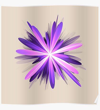Flower blast #fractal art Poster