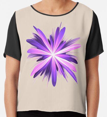 Flower blast #fractal art Chiffon Top