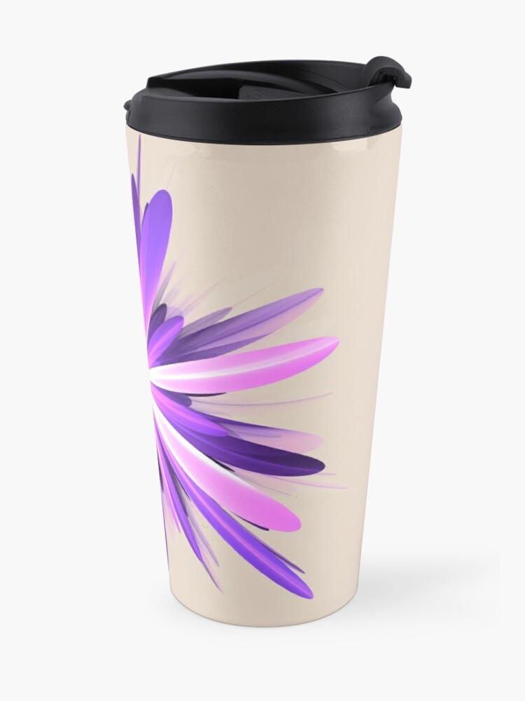 Alternate view of Flower blast #fractal art Travel Mug