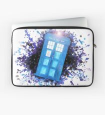 Wibbly-Wobbley Timey-Watercolor (White) Laptop Sleeve