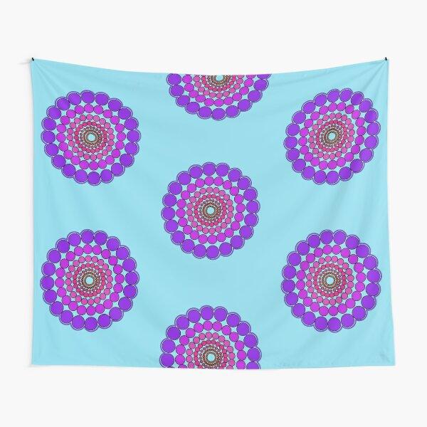 Purple Spectrum Mandala Tapestry