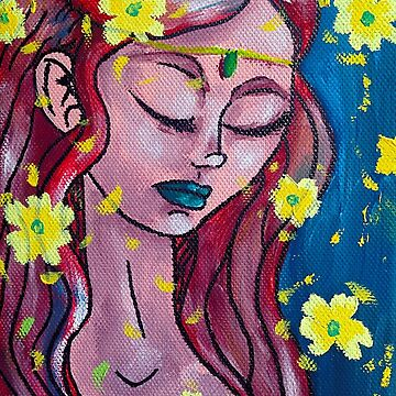 Sad Goddess by cleocony