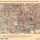 Booth's Map of London Poverty for Whitechapel ward, City of London by ianturton