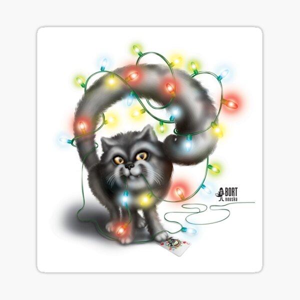 Garland Сat Sticker