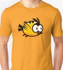 Cute Yellow Bird Flying Unisex T-Shirt