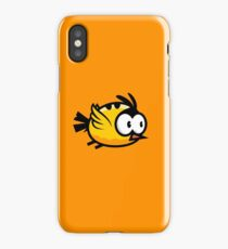 Cute Yellow Bird Flying iPhone Case/Skin