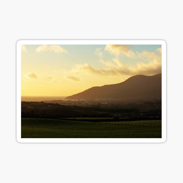 Sunrise Over Newcastle, County Down, Northern Ireland Sticker